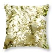 Abstract White Throw Pillow