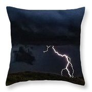 Abstract Wicked Lightning 5 Throw Pillow