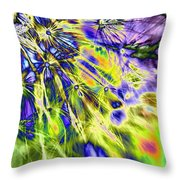 Abstract Wildflower 5 Throw Pillow