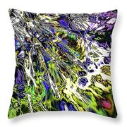 Abstract Wildflower 6 Throw Pillow