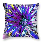 Abstract Wildflower 9 Throw Pillow
