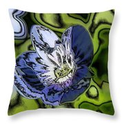 Abstract Wildflower Throw Pillow