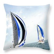 Abstract Wind And Seas Throw Pillow