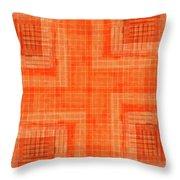 Abstract Window On Orange Wall Throw Pillow