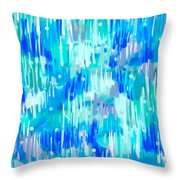 Abstract Winter Throw Pillow