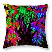 Abstract Wisteria Throw Pillow