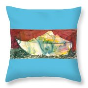Abstract With A Boat Throw Pillow