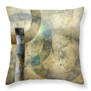 Abstract With Circles Throw Pillow