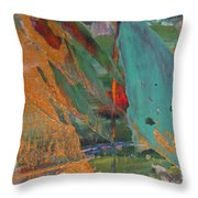 Abstract With Gold - Close Up 7 Throw Pillow