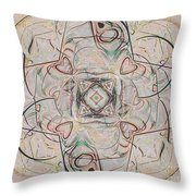 Abstract With Hearts Throw Pillow