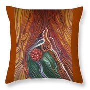 Abstraction With Red Balls Throw Pillow