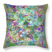 ract with Shapes and Squiggles Throw Pillow