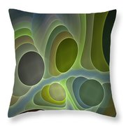 Abstract With Stars Throw Pillow