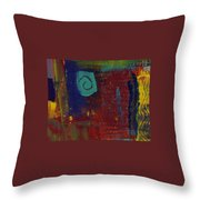 Abstract With Teal Spiral Throw Pillow