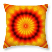Abstract Xanthous And Black.  Throw Pillow