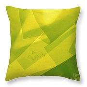 Abstract Yellow And Green With Bottles Throw Pillow