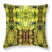 Abstract Yellow Trees Throw Pillow