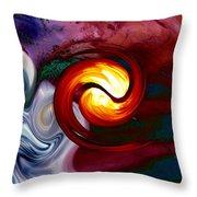 Abstract Yin Yang Lava Throw Pillow