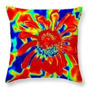 Abstract Zinnia Throw Pillow