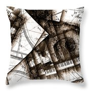 Abstracta 24 Cadenza Throw Pillow