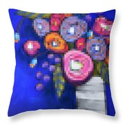Abstracted Flowers - 2 Throw Pillow