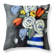 Abstracted Flowers - 3 Throw Pillow