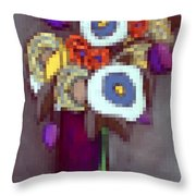 Abstracted Flowers - 4 Throw Pillow