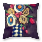Abstracted Flowers- 5 Throw Pillow