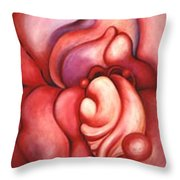 Abstracted Orchid Throw Pillow