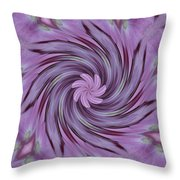 Abstracted Twirl Pink Hydrangea Flowers Throw Pillow