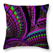 Abstracticalia Fantalia - In Purple - Catus 1 No. 1 L B Throw Pillow