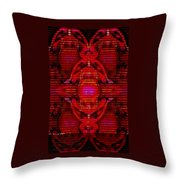 Abstracticalia In Red For Edith And Costa Halkiadakis V  A Throw Pillow