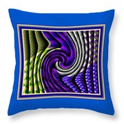Abstracticalia Swirlia Tessalania Catus 1 No. 1 L B With Decorative Ornate Printed Frame. Throw Pillow