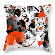 Abstraction 1109 Throw Pillow
