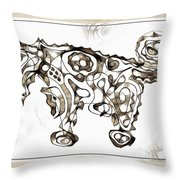 Abstraction 1950 Throw Pillow