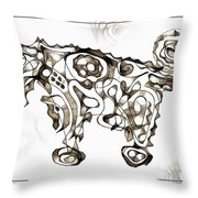 Abstraction 1951 Throw Pillow