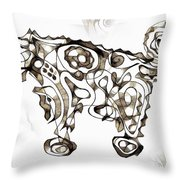Abstraction 1952 Throw Pillow