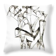 Abstraction 1953 Throw Pillow