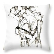Abstraction 1955 Throw Pillow