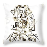 Abstraction 1959 Throw Pillow