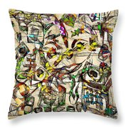 Abstraction 2049 Throw Pillow