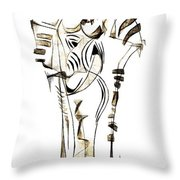 Abstraction 2152 Throw Pillow