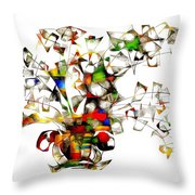 Abstraction 2175 Throw Pillow