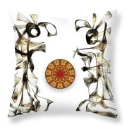 Abstraction 2184 Throw Pillow