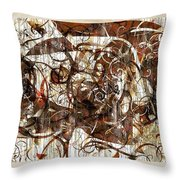 Abstraction 2406 Throw Pillow