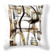 Abstraction 2430 Throw Pillow