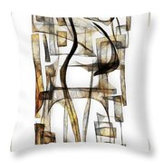 Abstraction 2431 Throw Pillow