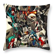 Abstraction 2501 Throw Pillow