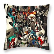 Abstraction 2502 Throw Pillow