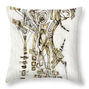 Abstraction 2562 Throw Pillow